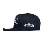 la familia hat side shot black